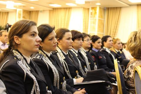 Photo: The launch of Albania's first National Action Plan on UN Security Council resolution 1325 on women, peace and security has already led to more women leaders in the police.
